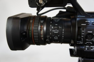 The 14x lens on the PMW-300