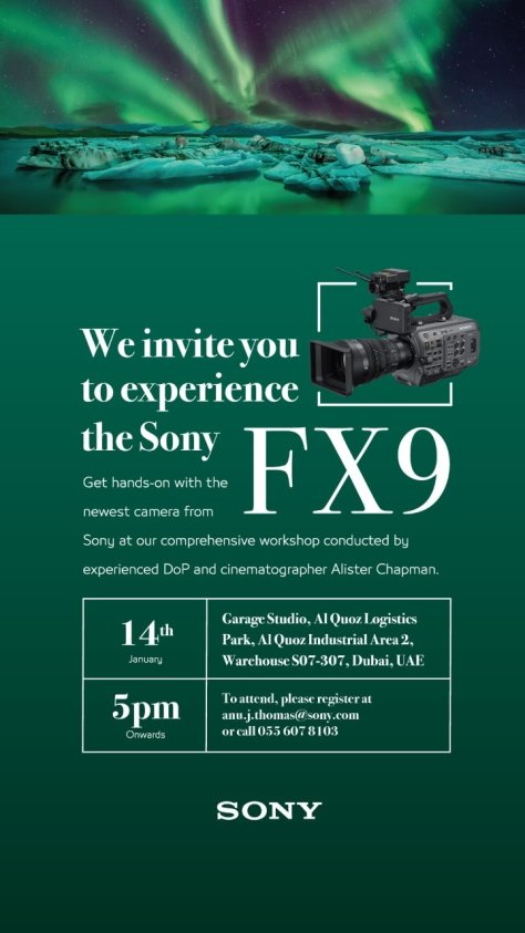FX9-Dubai-576x1024 PXW-FX9 Launch Event In Dubai. This Is Going To Be Fun!