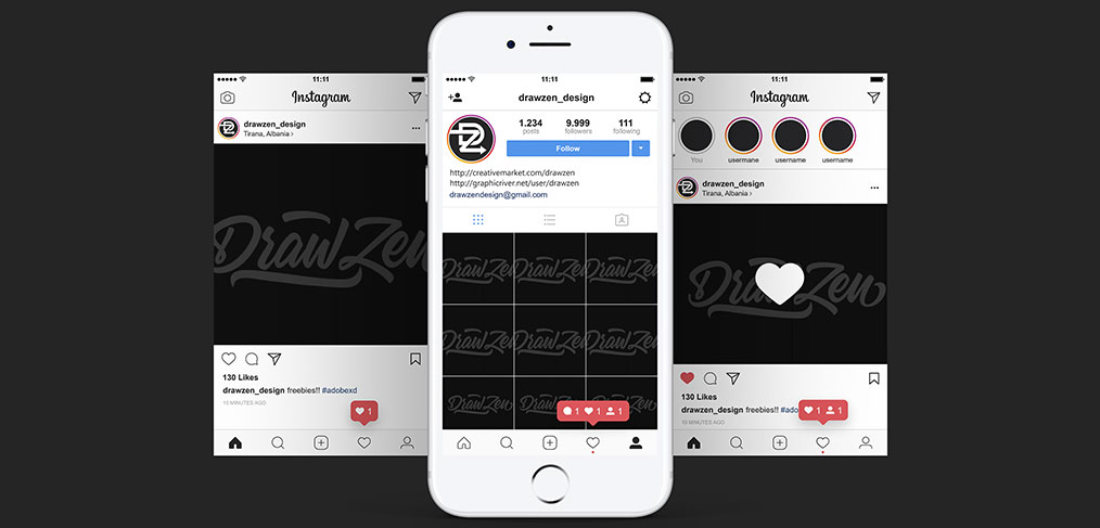 Instagram Ui Mobile Screens For Xd Xdguru Com