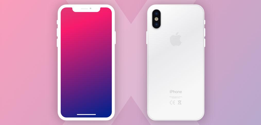Plain White Wallpaper Iphone X New Iphone X Mockups For Adobe Xd Xdguru Com
