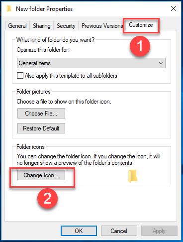 Change Folder icon Step 2.
