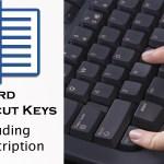 MS Word Shortcut Keys