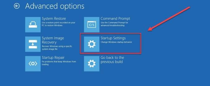 Click Advanced Options. Blue Screen Windows 10