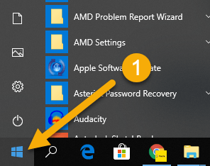 How To Uninstall Apps on Windows 10 - Step 1 Start menu