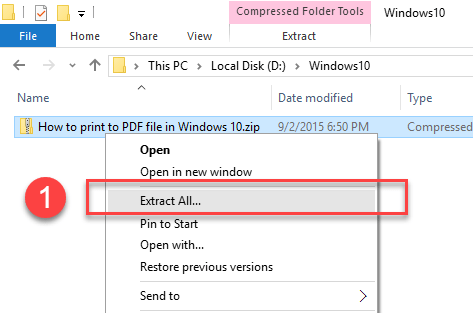 How To Unzip Files Windows 10