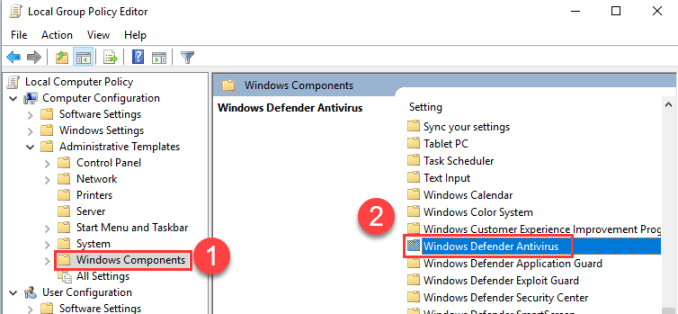 Windows Components How to Turn Off Windows Defender (3)