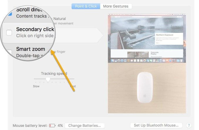 how to left click on a mac mouse