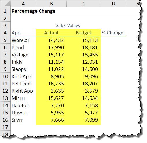 calculate percentages the right