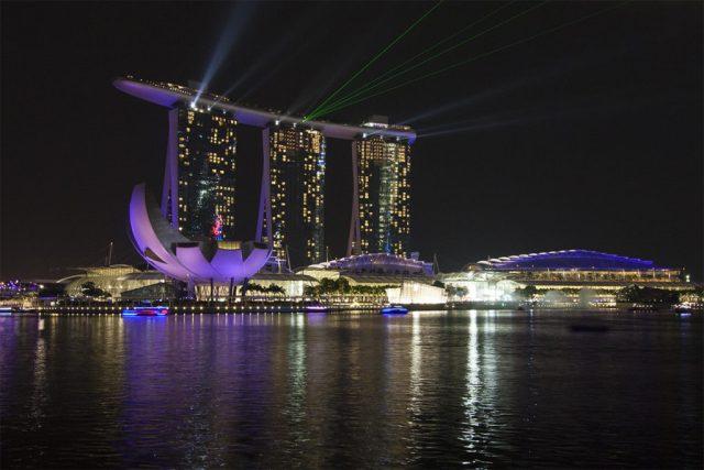 LightShow in Singapur