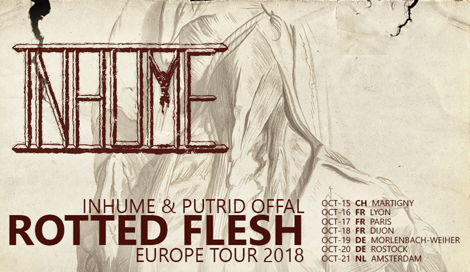 "PUTRID OFFAL announce ""Rotted Flesh"" Fall Europe tour with INHUME"