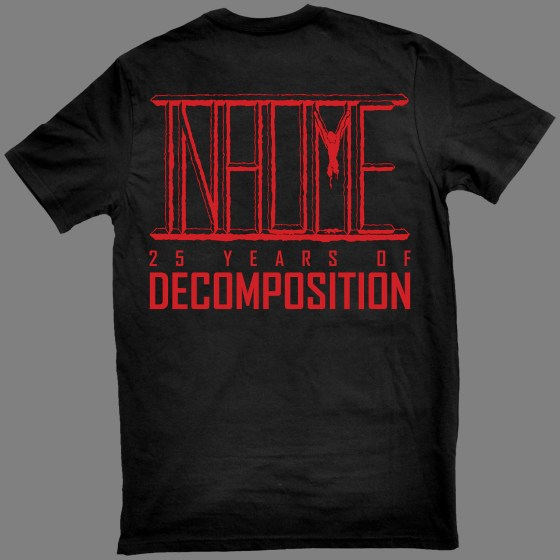 """INHUME """"Exhume: 25 Years of Decomposition"""" T-SHIRT"""