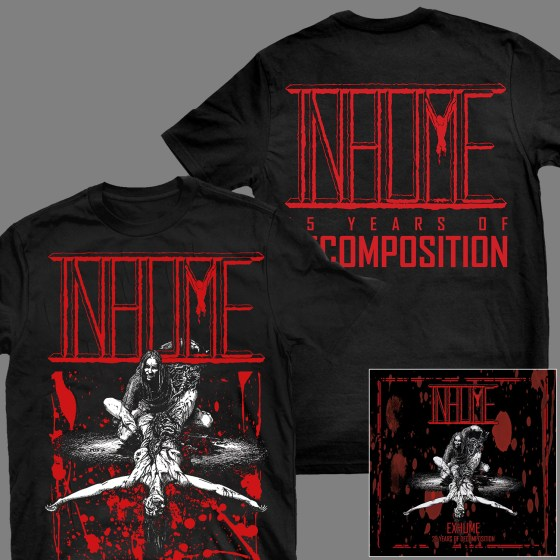 """INHUME """"Exhume: 25 Years of Decomposition"""" CD + T-SHIRT"""