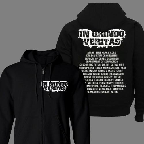 """V/A """"In Grindo Veritas"""" ZIPPED HOODIE"""