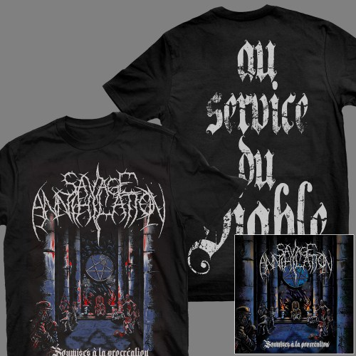 "SAVAGE ANNIHILATION ""Soumises à la procréation"" CD + T-SHIRT"