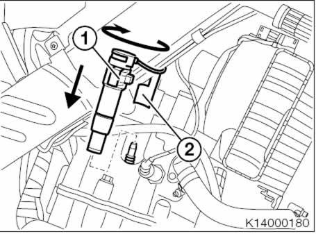 BMW F650CS Scarver: Mantenimiento: cambio bujía