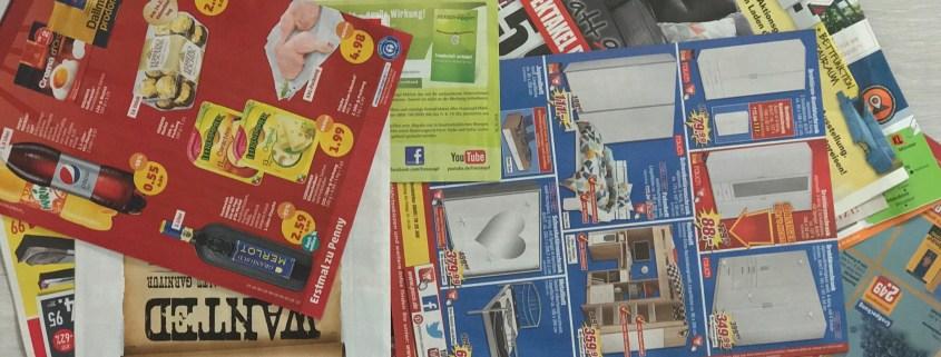 Werbeprospekte - Werbung Papier Tonne