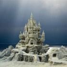 Hermosas esculturas de arena.