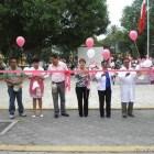 Realizan caminata en Huajuapan por día mundial contra el cáncer de mama