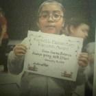 Niña Huajuapeña es reconocida en EE.UU por desempeño educativo