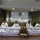 Cuatro de nueve candidatos a diputados locales participan en debate