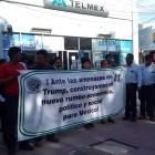 Protestan telefonistas en Huajuapan