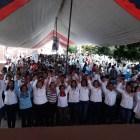 Huajuapeños respaldan a Juanita Cruz durante su cierre de campaña
