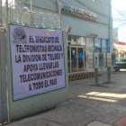 Telefonistas se manifiestan en apoyo a movilización nacional