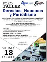 Realizarán taller de Derechos Humanos y Periodismo