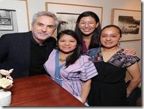 Marcelina Bautista con Alfonso Cuarón