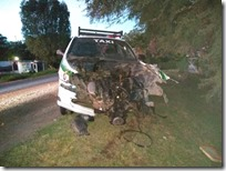 Taxi involucrado en accidente