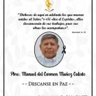 Fallece el párroco Manuel del Carmen Muñoz Calixto
