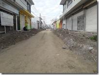 Calle Allende reactivan trabajos
