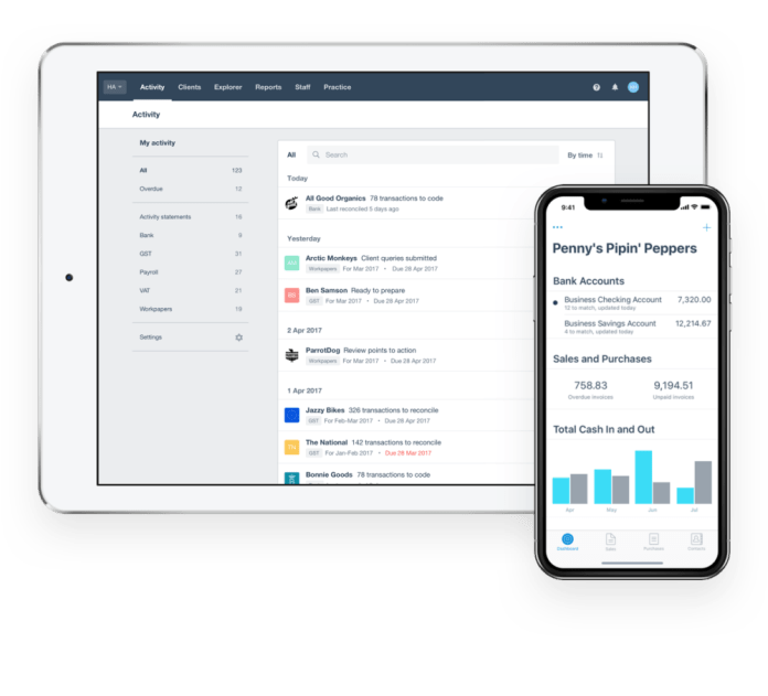 Xero on mobile