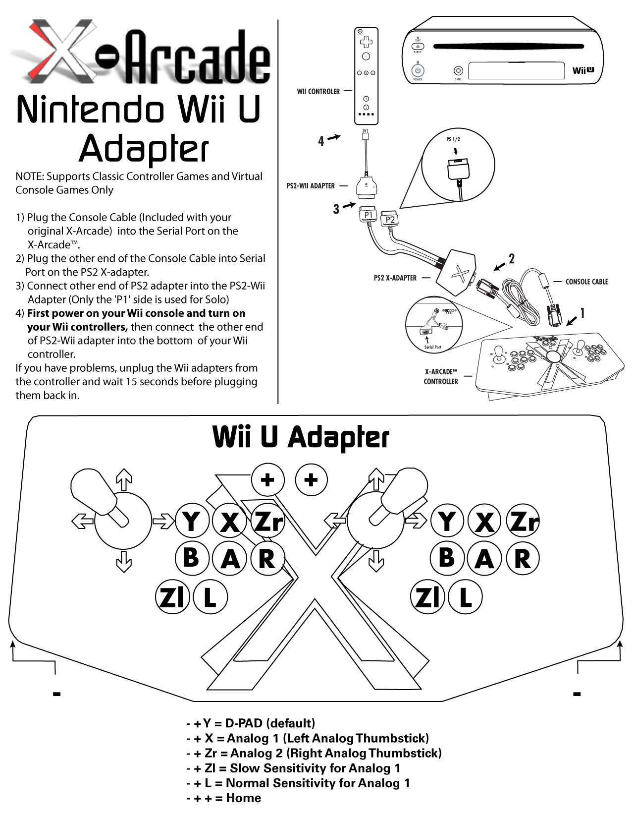 Wii And Wii U Wireless Adapter Xgaming