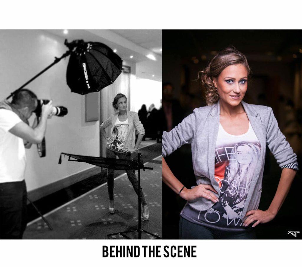 Portrait femme modele actrice backstage