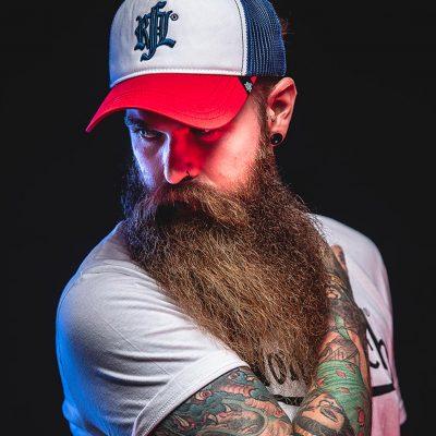 Portrait homme model barbu hipster
