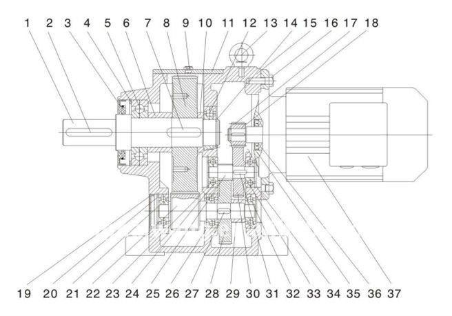 R series single helical gear reducer-cycloid reducer,gear