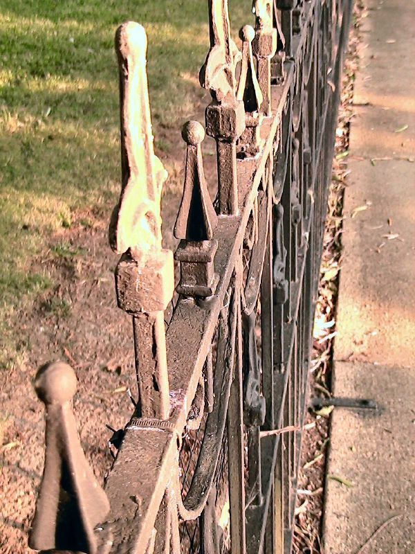 wrought iron fence by xiane