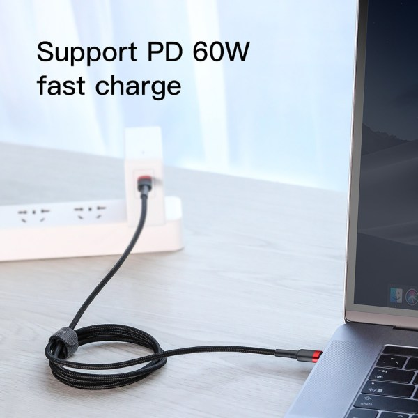 Baseus Type-C cable PD2.0 60W Flash charging (20V 3A) 1m Red/Black