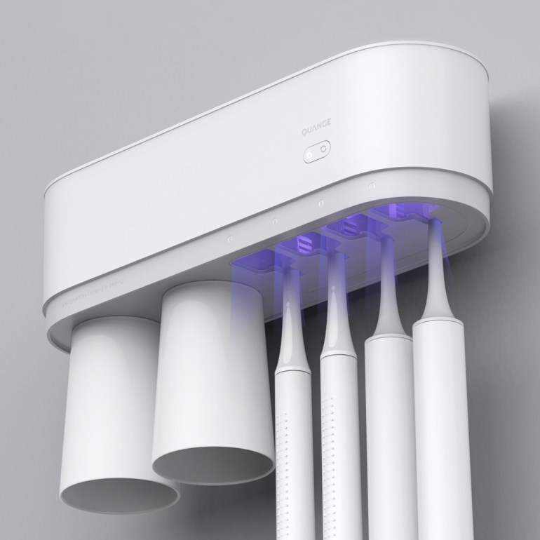 Electric toothbrush sterilizer with wall bracket.  News Xiaomi Addicts