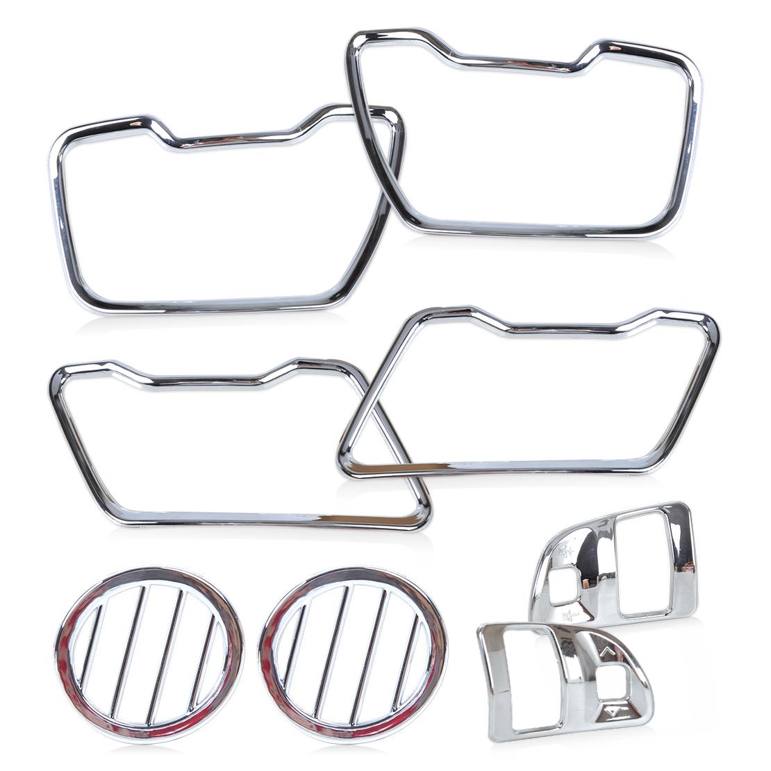 8x Chrome Interior Air Vent Duct Trim Wheel Cover For Kia Sportage R 15