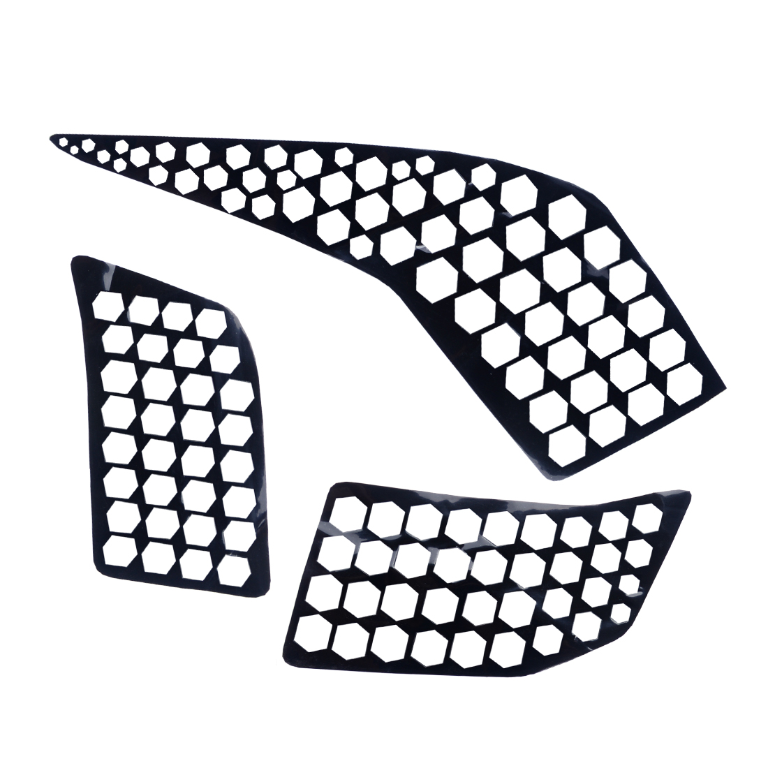 6x Rear Tail Light Decal Cover Sticker Honeycomb Style Fit