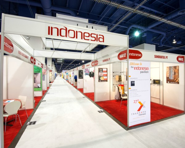 trade show booth indonesia