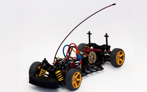 skeleton RC car