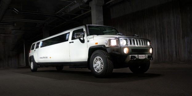 Angel Ride modern white limo