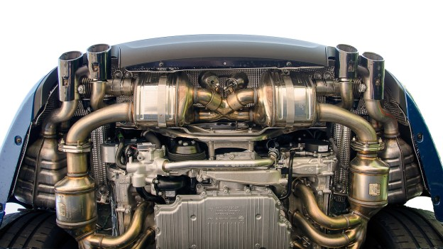 gold plated car engine