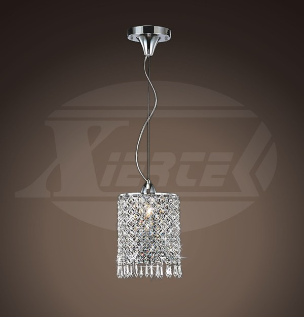 Renesmee 1 Light Sparkle Shine Crystal Mini Pendant Chrome Chandelier 13