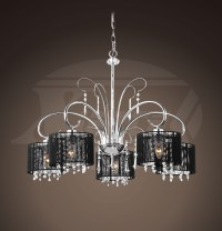 Chrome Chandelier With Black Shades - Chandelier Ideas