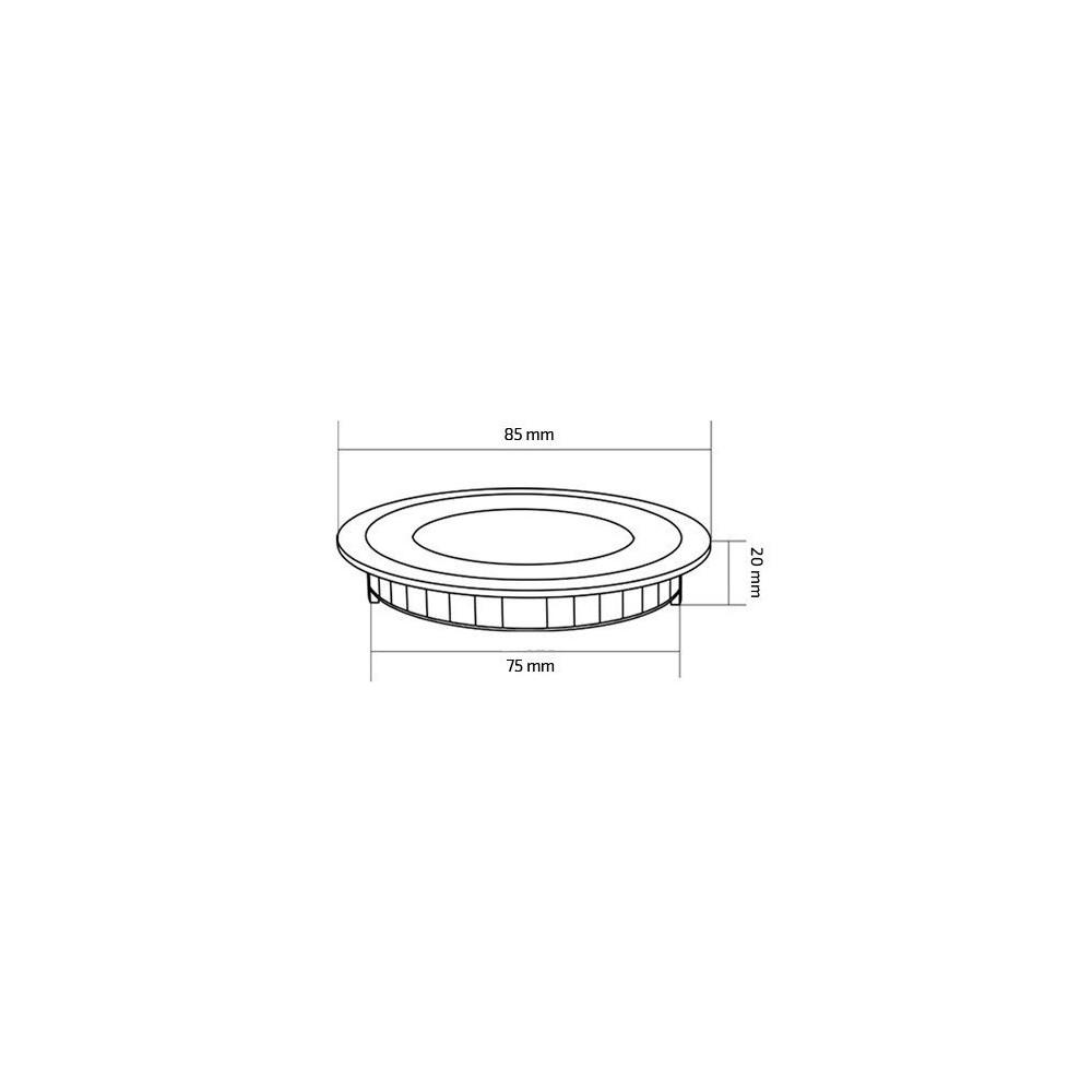 spot encastrable 3w led 230 lumens rond extra plat blanc cuisine sdb meuble niche