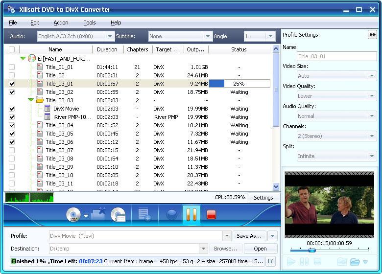 Xilisoft DVD to DivX Converter - Convert DVD to DivX, rip DVD to DivX